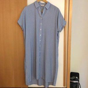 Long Botton Down Shirt Dress